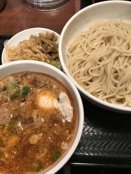 「つけ麺(ごま)、サービス大盛り」@中華麺酒家 彩華の写真