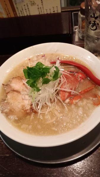 「蟹の味噌そば¥850」@立ち呑み居酒屋 金町製麺の写真