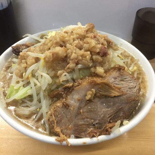 「ラーメン ニンニク野菜アブラ」@ラーメン荘 夢を語れ Yume Wo Katare Tokyoの写真
