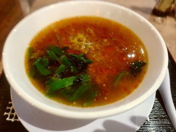 「ピリ辛四川風湯麺(並盛・110g)750円」@たかさき食堂 高崎オーパ店の写真