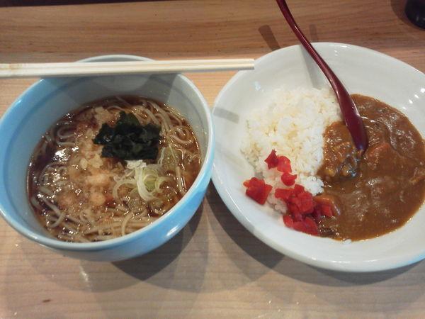 「カレーセット 530円」@石臼挽き蕎麦 とよじの写真