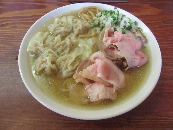「雲呑麺・塩(900円)+肉増し」@良温(Ra-on)の写真