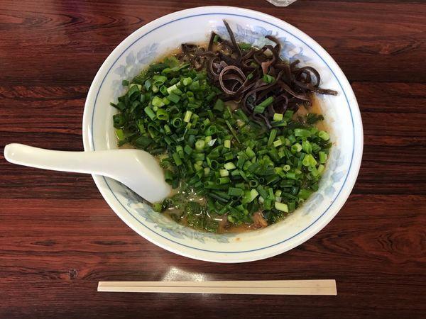 「チャーシュー麺900円+明太おにぎり150円」@熊本ラーメン みち丸の写真