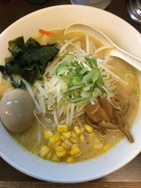 「みそらーめん半熟玉子(細麺)」@味噌一 一之江店の写真