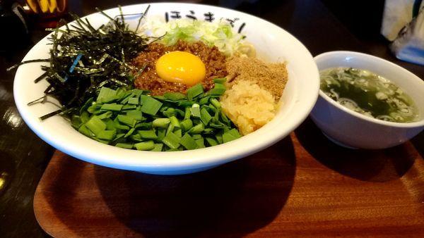 「台湾まぜそば」@自家製麺 ほうきぼし 茅ケ崎店の写真