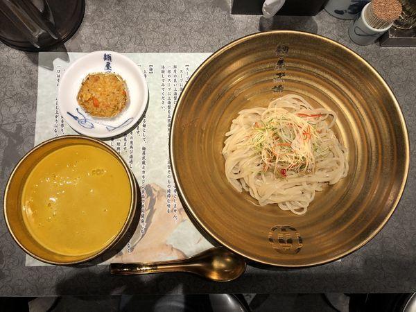 「上海蟹つけ麺」@麺屋武蔵 蒲田店の写真