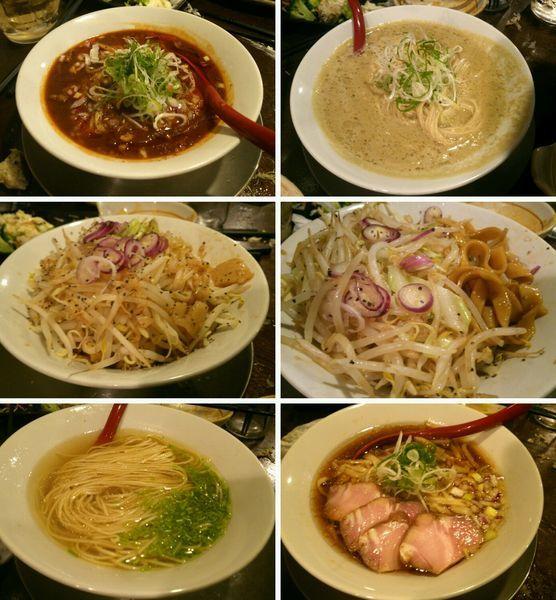 「汁なしJ・牡蠣出汁味噌そば・名古屋コーチンと雉そば」@立ち呑み居酒屋 金町製麺の写真