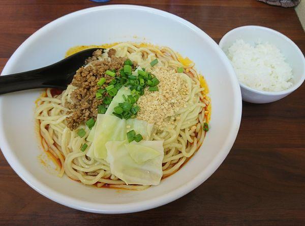 「成都式(汁なし)担担麺・大盛1000 サービスライス」@担担麺 すご六の写真
