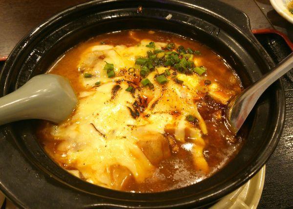 「チーズ入り汁なし陳麻婆カレー麺 1080円」@麻辣房の写真