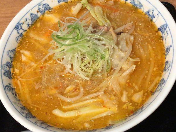 「味噌ラーメン(麺大盛)」@けやき 新千歳空港店の写真