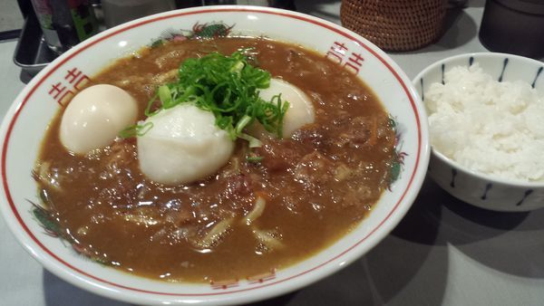 「【限定】牛スジカレーラーメン850円(クーポン味玉)」@中華蕎麦 瑞山(ZUIZAN)の写真