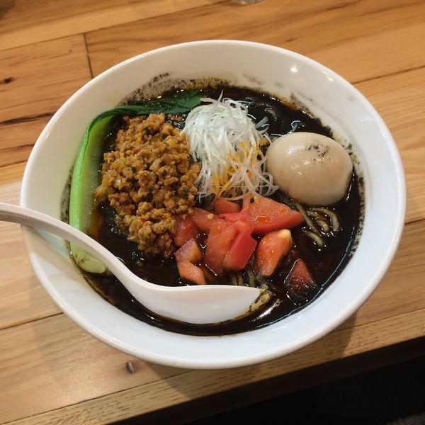「濃厚 黒胡麻坦々麺 限定」@らーめん カッパハウスの写真