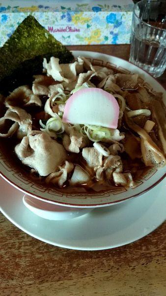 「肉そば(醤油) 750円」@多摩利屋の写真
