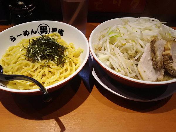 「つけ麺780円ヤサイ増し」@らーめん男盛 本店の写真