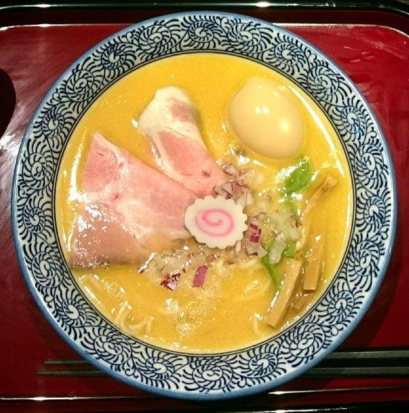 「鶏白湯醤油(細麺) 味玉 和え玉」@鶏そば なんきち 東京店の写真