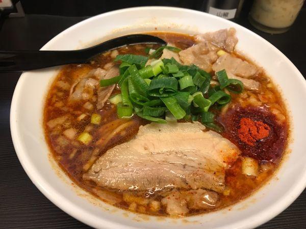 「辛口肉ソバ醤油」@辛口肉ソバ ひるドラ 日本橋店の写真