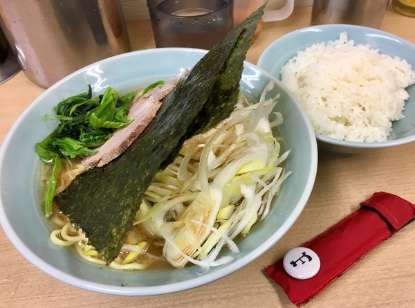 「ねぎラーメン」@横浜らーめん 武蔵家 池袋店の写真