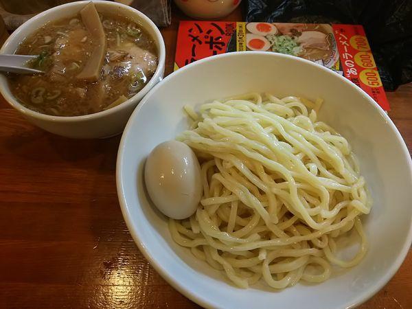 「つけ麺(こってり) +味玉 ※クーポンで700円」@はちの写真