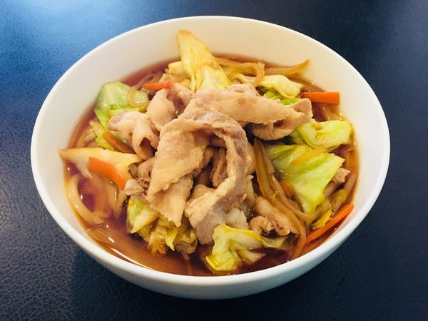 「肉野菜うどん」@SOBA わ UDONの写真