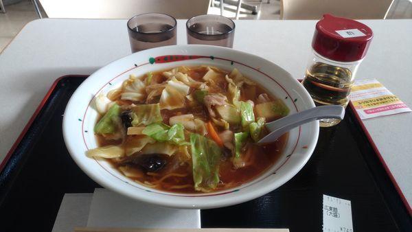 「広東麺(大盛) 麺硬め」@らーめん 福よし 加須店の写真