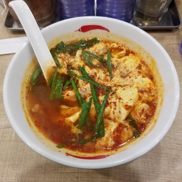 「辛麺(5倍、こんにゃく麺)750円」@辛麺屋 一輪 池袋店の写真