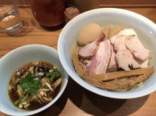 「特製醤油つけ麺(大盛り)」@らぁめん鴇の写真