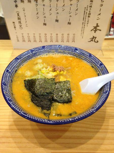 「坦々麺 750円」@手打ちラーメン 本丸の写真