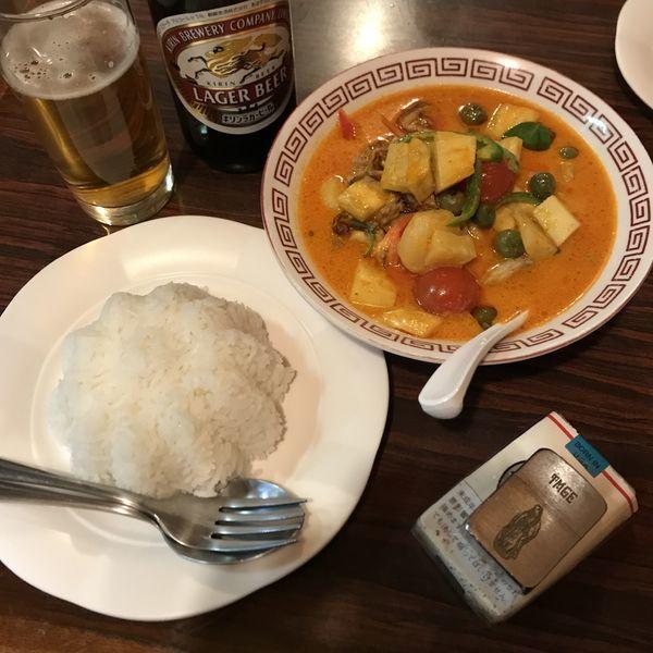 「焼きダックカレー」@PIRABUKAO 池袋店の写真