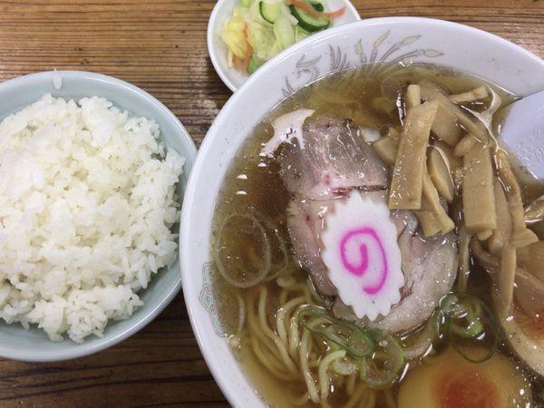 「ミニワンタン麺セット700円」@らーめん太陽 江古田店の写真