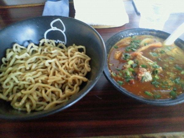 「トマトカレーつけ麺 950円」@ラーメンげんきだまの写真