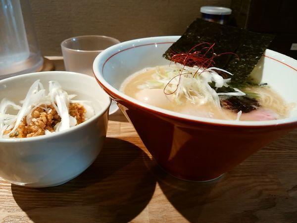 「味玉ラーメンランチセット」@饗膳麺 昌㐂の写真
