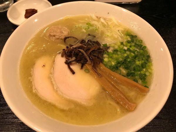 「【限定】鶏白湯ラーメン  780円」@ラーメン角屋の写真