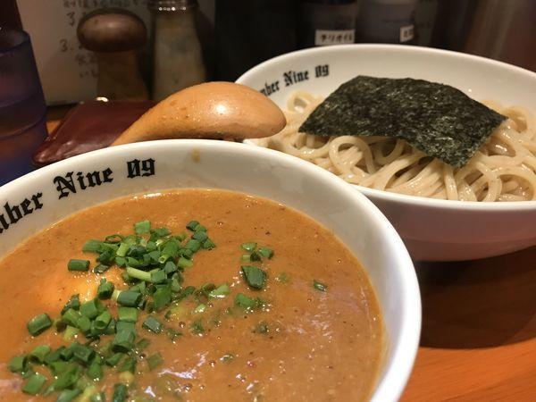 「濃厚つけめん+味玉」@麺Dining Number Nine 09の写真