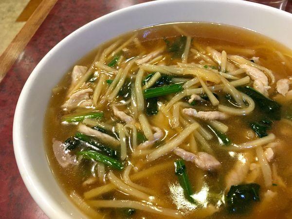 「肉糸切り麺(肉絲麺)」@華吉の写真