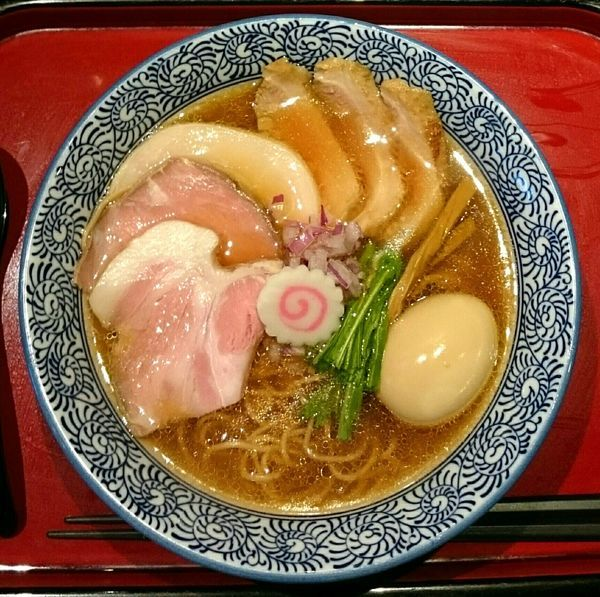 「鶏そば 味玉 鴨ロース」@鶏そば なんきち 東京店の写真