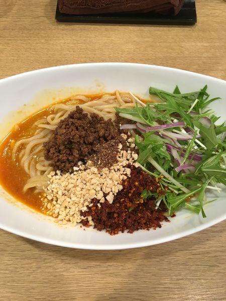 「汁なし担担麺+追い飯」@手打中華そば 大賀110の写真