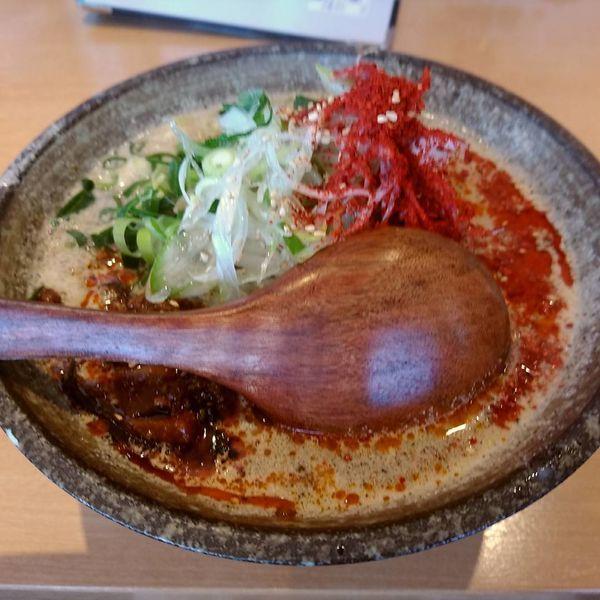 「辛口・黒胡麻坦々麺(並盛・160g)972円」@麺や 和の写真
