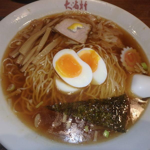 「ワンタン麺玉子入り(950円)」@中華そば 大海軒 八王子店の写真