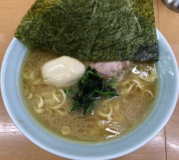 「ラーメン+味玉(¥700+¥80)」@横浜家系ラーメン 二代目 梅家の写真