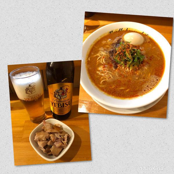 「担担麺¥860 with Beer small bottle」@麺庵ちとせの写真