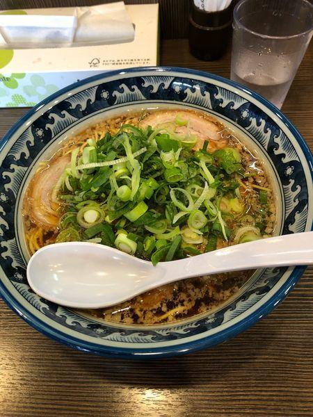 「黒らーめん+白炒飯」@麺や京水の写真