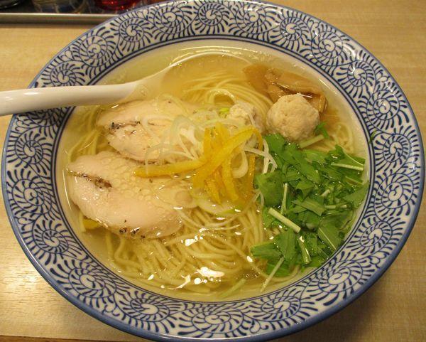 「鶏塩ソバ 750円」@鶏豚骨 一學の写真