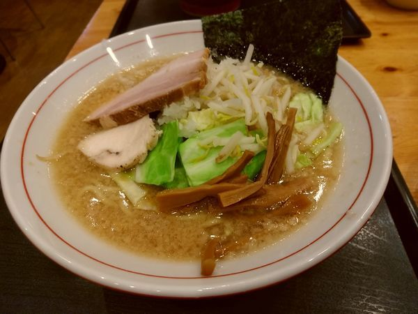 「安養寺みそらーめん(並盛)800円」@とんちき麺の写真