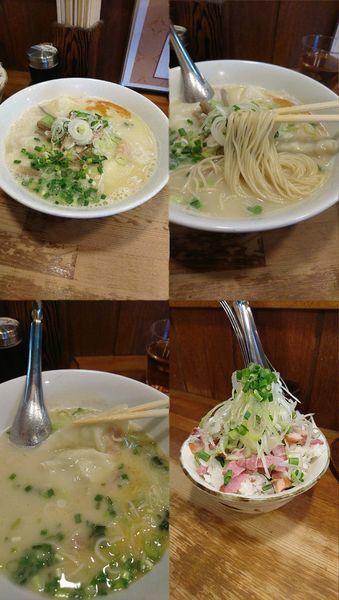「『鶏わんたん麺 塩+かも丼(¥890+400)』」@らーめんや なかじゅう亭 高崎市通町本店の写真