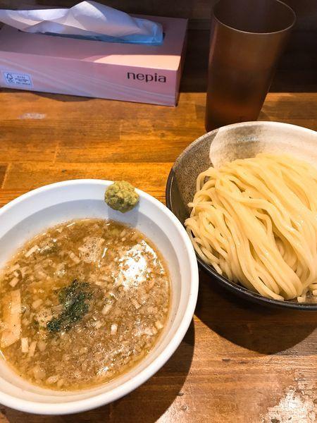 「塩つけ麺 大盛り 味玉付き」@めいげんその写真
