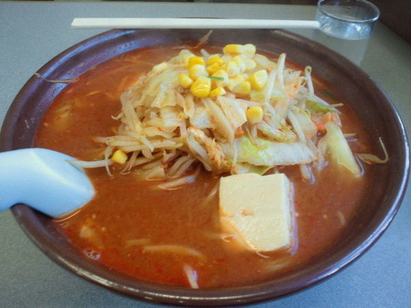 「からしみそラーメン(激辛)830円、麺大盛(無料)」@くん太郎 本店の写真