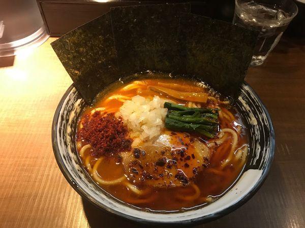 「辛らーめん830円」@麺家 ぶらいとんの写真