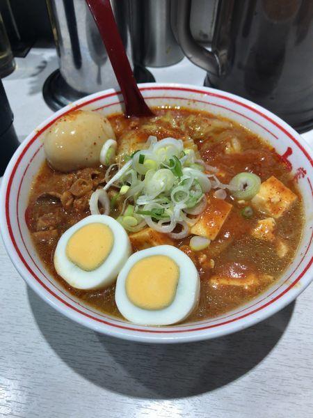 「90蒙古タンメン 煮卵」@蒙古タンメン 中本 川崎店の写真