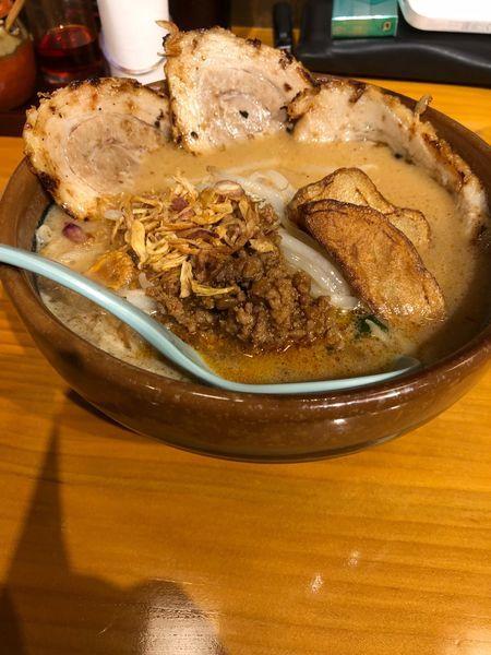 「味噌ラーメン(北海道味噌)」@麺場 田所商店 足立江北店の写真