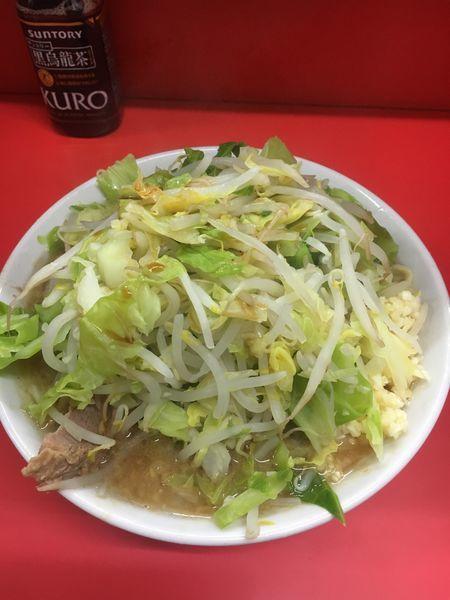 「小ラーメン ヤサイちょいマシ ➕ニンニク➕カラメ」@ラーメン二郎 松戸駅前店の写真